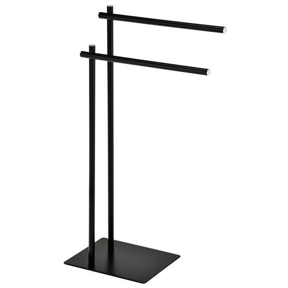 Handtuchhalter aus Metall in Schwarz - Schwarz, MODERN, Metall (47/82/24cm) - Modern Living