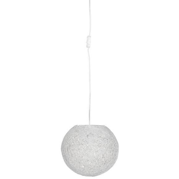 Függőlámpa Gömb Alakú - Fehér, Lifestyle, Természetes anyagok (30/135cm) - Mömax modern living