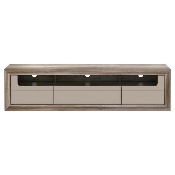Element Tv Tiziano - bej/culoare lemn stejar, Modern (193,6/49,8/54,2cm)
