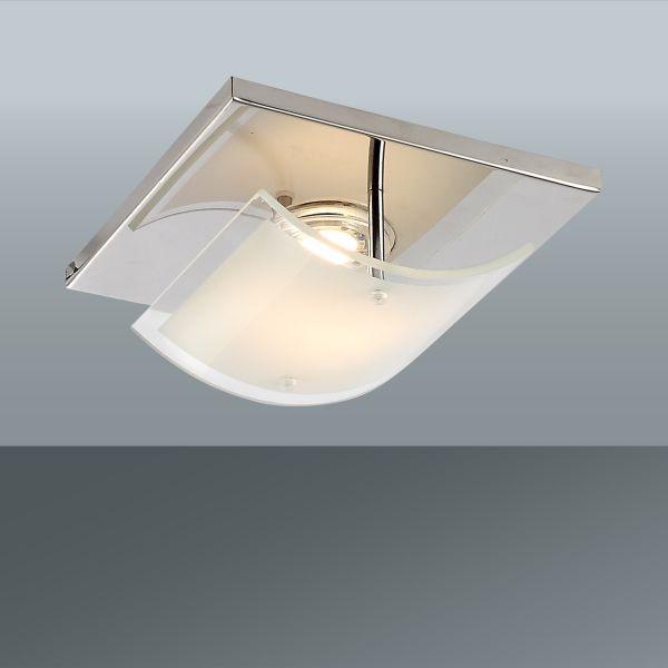 Wandleuchte Stephan, max. 5 Watt - Chromfarben, KONVENTIONELL, Glas/Metall (16/16/7,4cm) - MÖMAX modern living