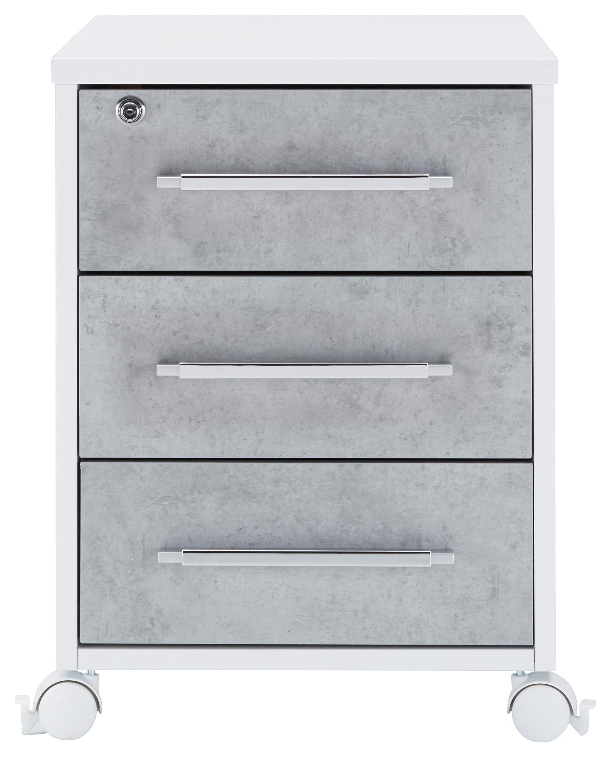 Rollcontainer kunststoff 3 schubladen  Rollcontainer in Grau/Weiß online kaufen ➤ mömax