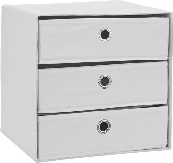 Fiókos Tároló Mona 3 - fehér, modern, karton/textil (32/31,5/32cm) - MÖMAX modern living
