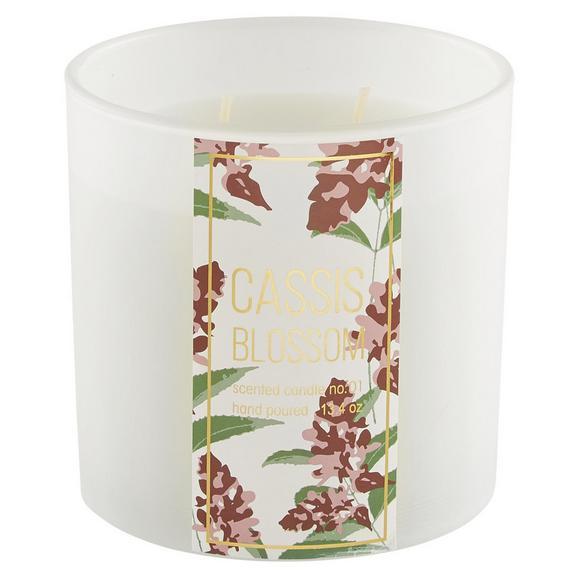 Kerze im Glas Pastell Blossoms - Weiß, Glas (10/10cm) - Mömax modern living