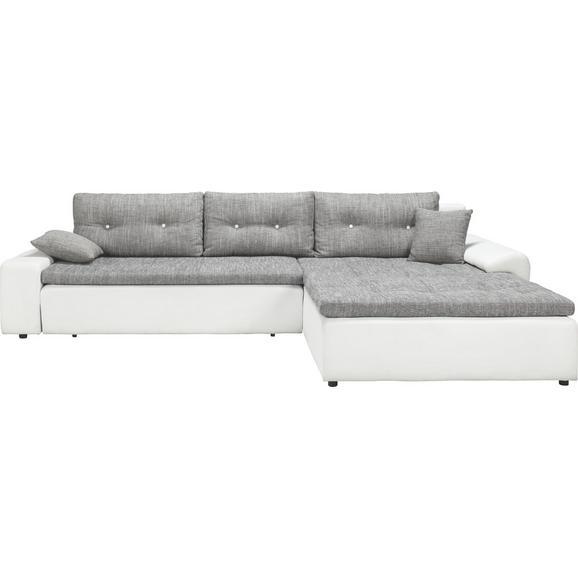 wohnlandschaft grau wei bettfunktion online kaufen m max. Black Bedroom Furniture Sets. Home Design Ideas