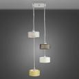 Pendelleuchte Cassandra 4-flammig - Silberfarben/Goldfarben, Glas/Metall (32/100cm) - Mömax modern living