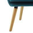 Ohrensessel Cooper - Petrol, MODERN, Holz/Textil (69/95/76cm) - Modern Living