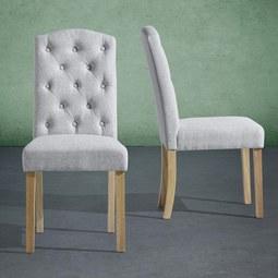 Stuhl Rita - Hellgrau, MODERN, Holz/Textil (47/99/62,5cm) - MÖMAX modern living
