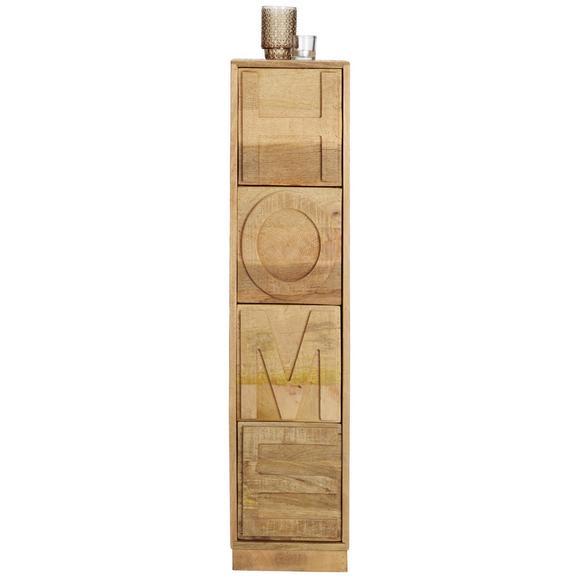 Kommode aus Mangoholz Teilmassiv - Naturfarben, ROMANTIK / LANDHAUS, Holz (28/120/28cm) - Zandiara