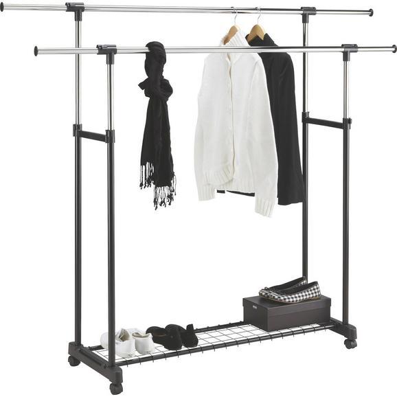 Mobilno Stojalo Za Obleke James - črna/krom, kovina/umetna masa (85-146,5/95-171/44cm) - Mömax modern living