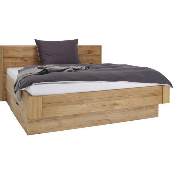 Bett in Eichefarben ca. 180x200cm - Eichefarben, KONVENTIONELL, Holz (180/200cm) - Premium Living