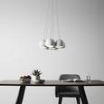 Pendelleuchte Emanuella 7-flammig - Weiß, MODERN, Metall (15/113cm) - Modern Living