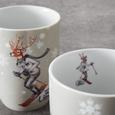 Kaffeebecherset aus Porzellan 2-teilig ''Skilehrer'' - Multicolor, MODERN, Keramik (8,2/10,3cm) - Bessagi Home