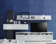 WANDBOARD Weiß matt - Weiß, MODERN, Holzwerkstoff (80/32/27cm) - Modern Living