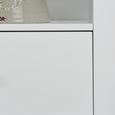 Regal Daisy - Weiß, MODERN, Holz (50/145/32cm) - Mömax modern living