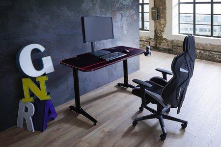 Computertisch in Schwarz/Rot online kaufen