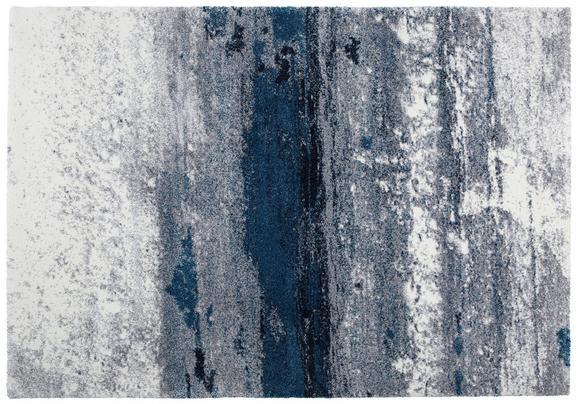 Ágyelő Topas - világosszürke/kék, modern (133/190cm)