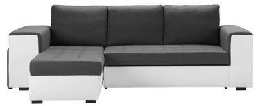 Funkcijska Sedežna Garnitura Harbour -2f.rec/bk - siva/bela, Moderno, umetna masa (260/150cm) - Modern Living