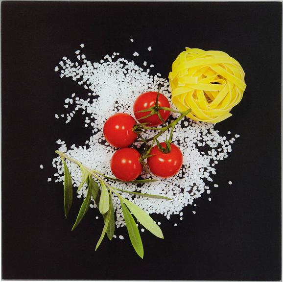 Glasbild Italiana Pasta, ca.20x20x1,7cm - Multicolor, MODERN, Glas (20/20/1,70cm) - MÖMAX modern living