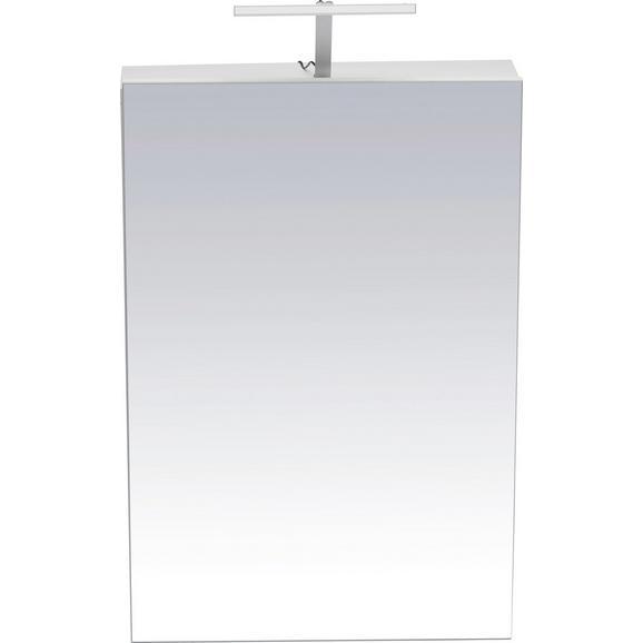 Spiegelschrank Weiß - Weiß, MODERN, Holz (50/75/16cm) - Mömax modern living