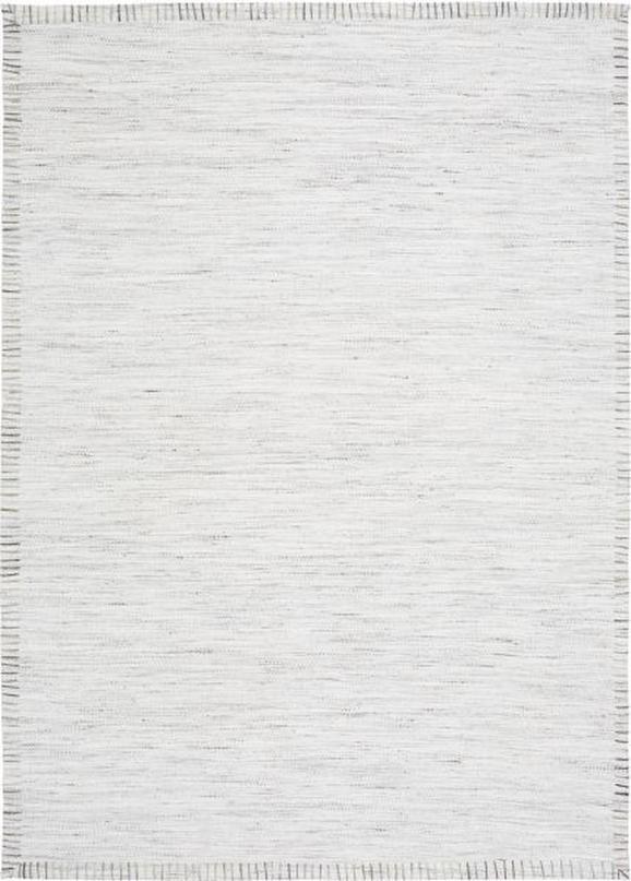 Flachwebeteppich Abra Hellgrau 160x230cm - Hellgrau, ROMANTIK / LANDHAUS, Textil (160/230cm) - Mömax modern living
