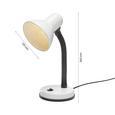 Íróasztali Lámpa Leona - Fehér, Műanyag/Fém (12,5/34/18,5cm) - Based