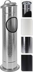 Aschenbecher Kerstin in versch. Farben - Silberfarben/Schwarz, Metall (14,7/56,5cm)