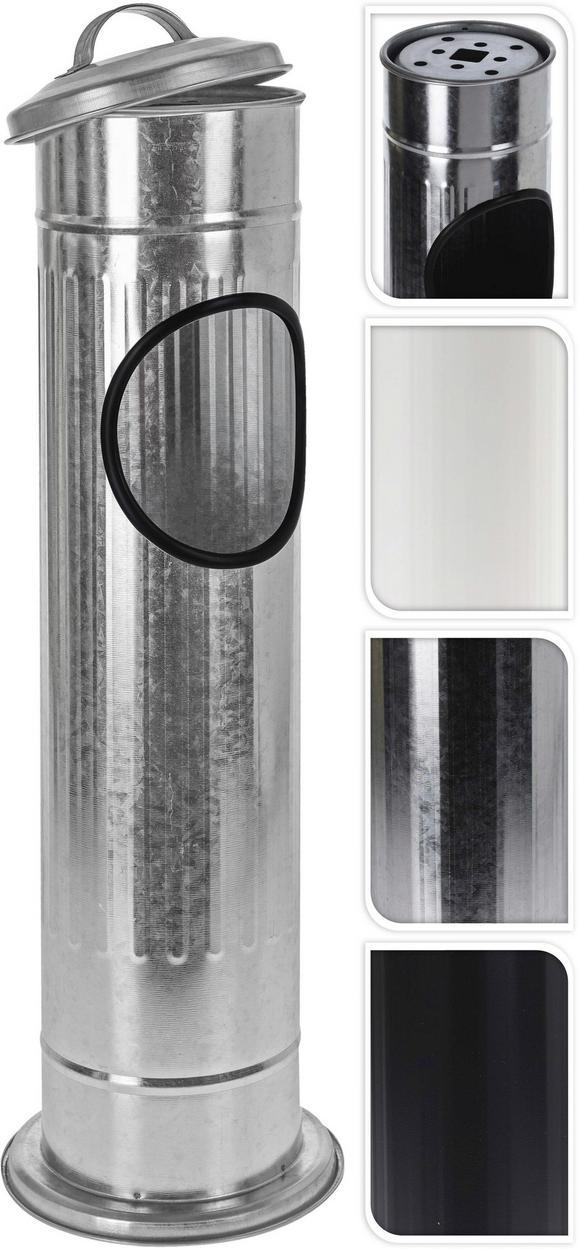 Pepelnik Kerstin - črna/bela, kovina (14,7/56,5cm)