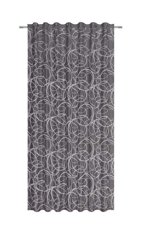 Zavesa Z Zankami Marlene - siva, Konvencionalno, tekstil (140/245cm) - Mömax modern living