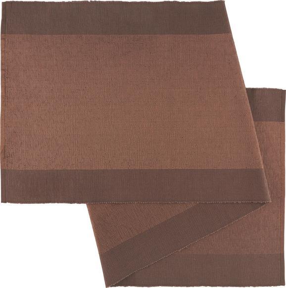 Tischläufer Brando in Braun - Braun, LIFESTYLE, Textil (45/150cm)