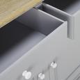 Kredenz Anouk - Grau, MODERN, Holz (117,5/183/45,5cm) - Modern Living