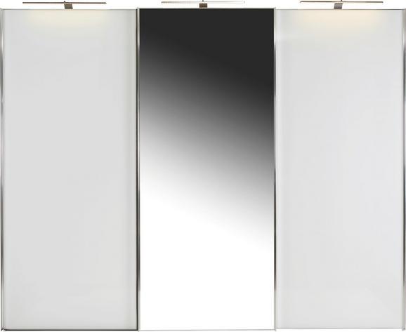 Omara Z Drsnimi Vrati Sonate Rom - bela/krom, Moderno, kovina/leseni material (298/240/68cm) - Mömax modern living