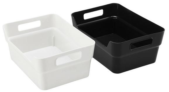 Škatla Linn - A5 - črna/bela, umetna masa (24/17/10cm)