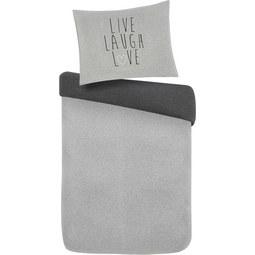 Bettwäsche LIVE/LAUGH/LOVE 140x200cm - Grau, MODERN, Textil (140/200cm) - Mömax modern living