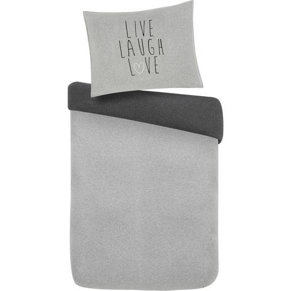 Lenjerie De Pat Live/laugh/love - gri, Modern, textil (140/200cm) - Mömax modern living