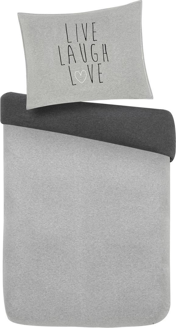 Posteljnina Live/laugh/love - siva, Moderno, tekstil (140/200cm) - Mömax modern living