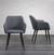 Stuhl Nicola - Dunkelgrau/Dunkelbraun, MODERN, Holz/Textil (58/82,5/61,5cm) - Mömax modern living