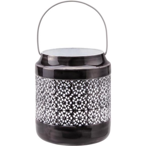 Laterna Sumati - temno siva/bela, Trendi, kovina (13,5/16,5cm) - Mömax modern living