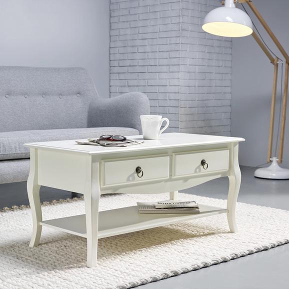 Couchtisch Claudia Vintage 100x50cm - Weiß, MODERN, Holz (100/50/49cm) - Mömax modern living