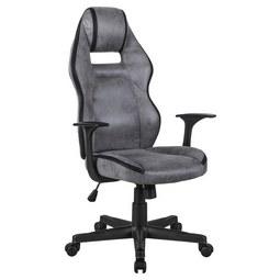 Vrtljivi Stol Eric - črna/siva, Moderno, kovina/umetna masa (65/110-120/63cm) - Modern Living