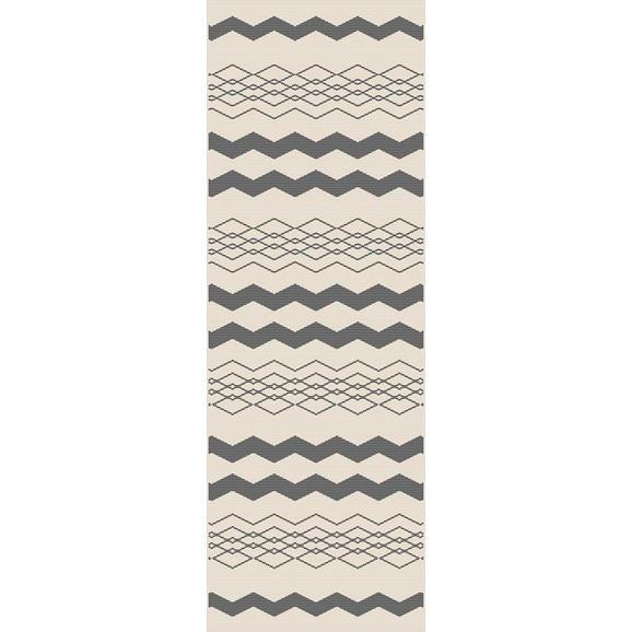 Flachwebeteppich Edgar in Creme ca.80x200cm - Silberfarben/Creme, MODERN, Textil (80/200cm) - Modern Living