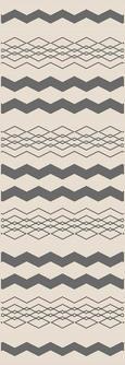 Ravno Tkana Preproga Edgar 1 - srebrna/krem, Moderno, tekstil (80/200/cm) - Modern Living