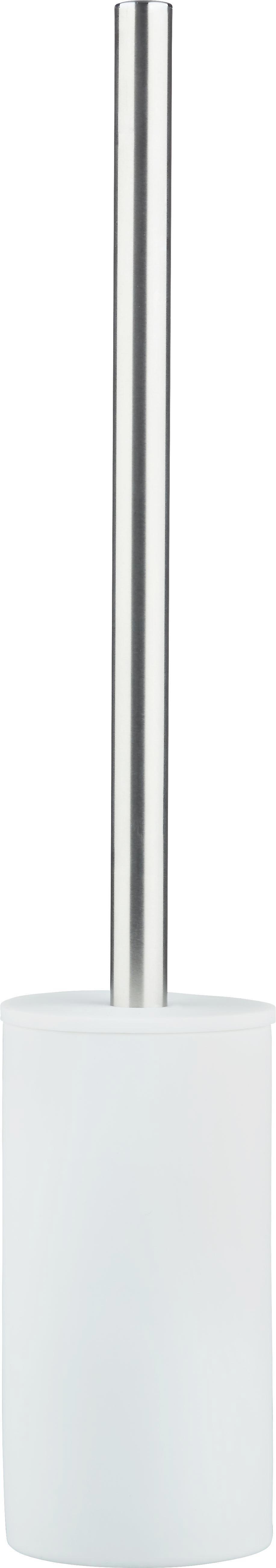 WC-Bürste Melanie in Weiß - Weiß, KONVENTIONELL, Kunststoff/Metall (8/45cm) - MÖMAX modern living