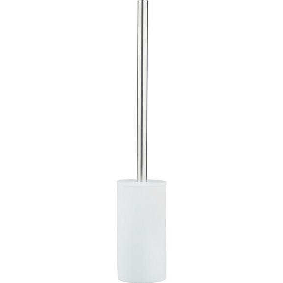 WC-Bürste Melanie Weiß - Weiß, KONVENTIONELL, Kunststoff/Metall (8/45cm) - Mömax modern living