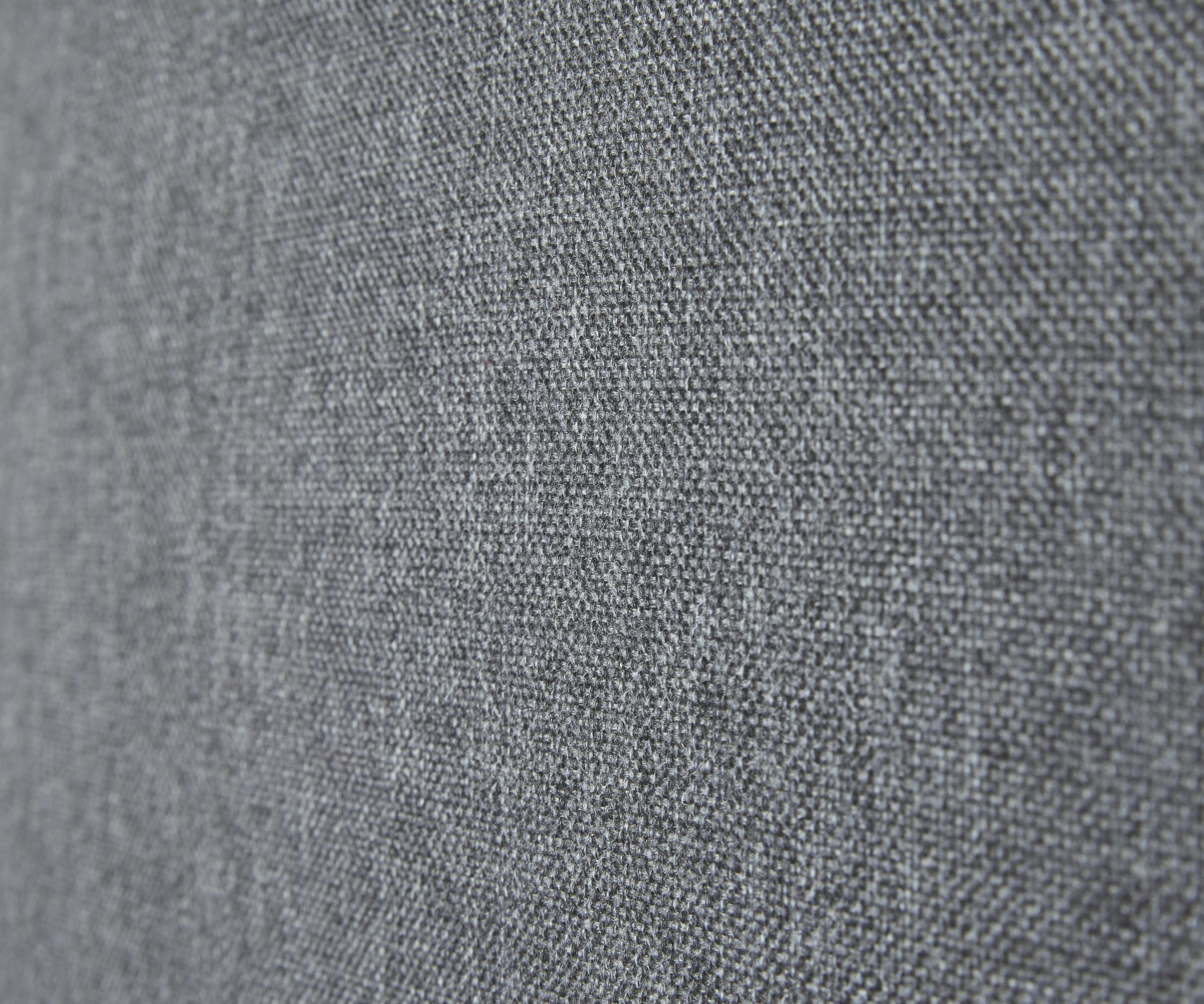 Bigsofa Bert - Chromfarben/Dunkelgrau, MODERN, Textil/Metall (225/82/97cm) - PREMIUM LIVING