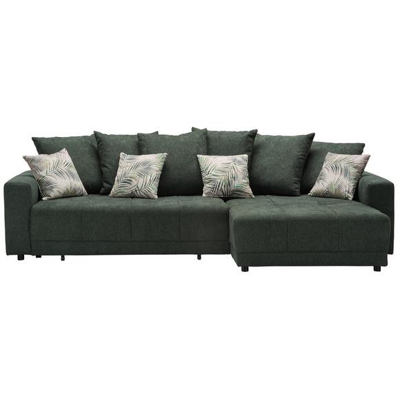 Sarokgarnitúra Summerfield - Zöld/Sötétzöld, Lifestyle, Textil (285/183cm) - Mömax modern living