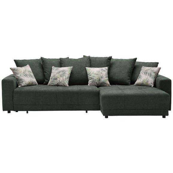 Sedežna Garnitura Summerfield - črna/zelena, Trendi, tekstil (285/183cm) - Mömax modern living