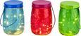 Okrasna Led-svetilka Dotty - roza/turkizna, steklo (11/15cm)