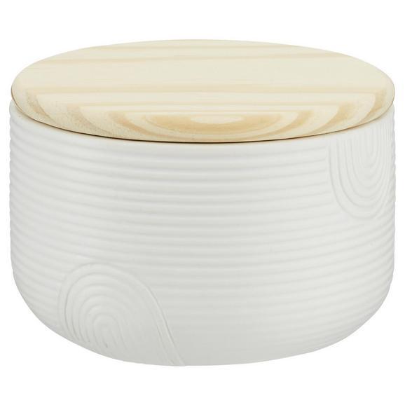 Dekodose Luna in Weiß - Naturfarben/Weiß, Holz/Keramik (12/8cm) - Mömax modern living