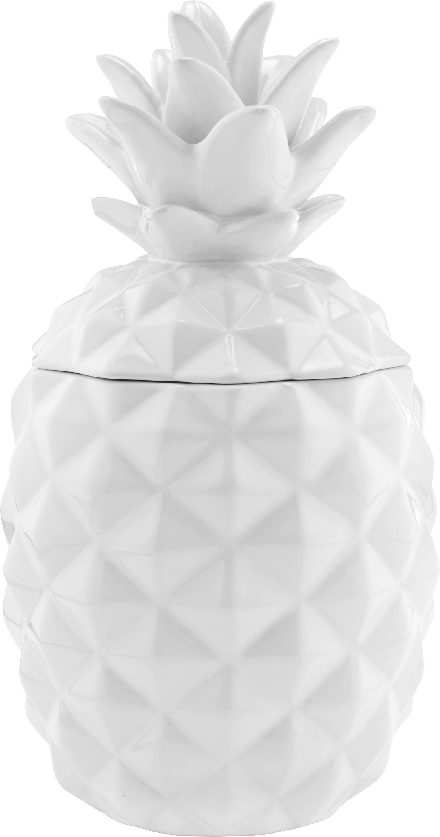 Dekofrucht Dora in Weiß aus Keramik - Weiß, MODERN, Keramik (15/15/28cm) - MÖMAX modern living