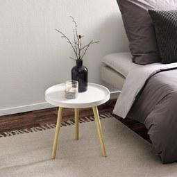 Beistelltisch Dana Ø 40 cm - Weiß/Pinienfarben, MODERN, Holz/Holzwerkstoff (39,50/40/39,50cm) - Modern Living